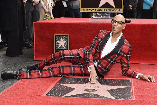 RuPaul walk of fame coolcuore